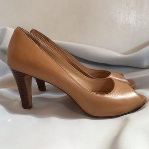 Cole Haan Peep Toe Heels Platform 7.5